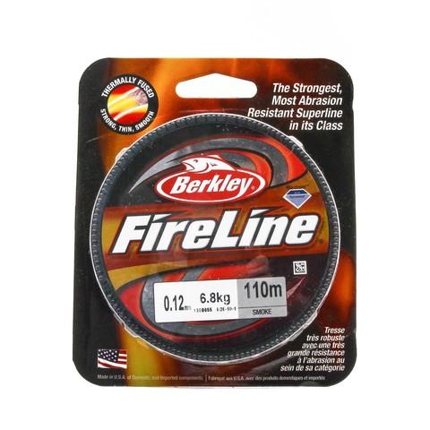 Плетеная леска Berkley Fireline Темно-серая 110 м. 0,12 мм. 6,8 кг. Smoke