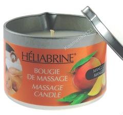 Свеча массажная Манго (Heliabrine | Линия Satin | Bougie de massage Mangue), 150 гр