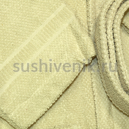 Бежевый банный халат