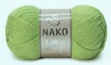Пряжа Nako Calico оливковый 6688