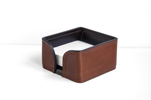 Лоток для блока бумаги PREMIUM из кожи Full Grain Toscana/Cuoietto шоколад