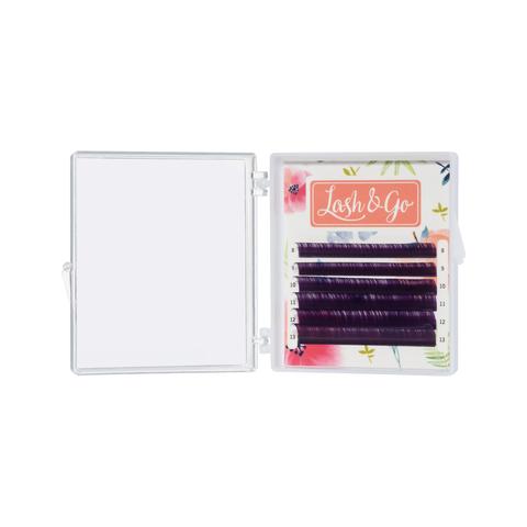Купить Фиолетовые ресницы для наращивания Lash Go 6 линий (микс длин) в официальном магазине Lash-Go.ru