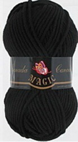 Пряжа Canada (Magic) 3702 Черный фото