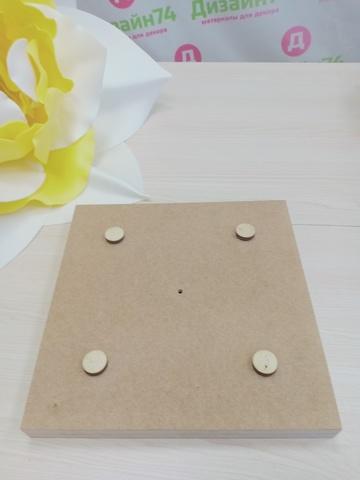Деревянная основа квадратная для цветов и светильников 200х200х35 мм, МДФ.