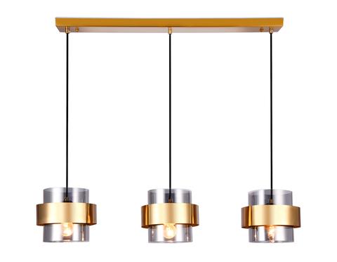 Подвесной светильник со сменной лампой TR3652/3 GD/SM золото/дымчатый E27/3 max 40W 820*180*700