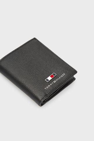 Мужской черный кожаный кошелек BUSINESS NS TRIFOLD Tommy Hilfiger