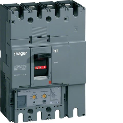 Выключатель автоматический, h630, электронный расцепитель, LSI, 4P4D, Icu=50kA при Ue=415В, Ir=250-100A, Ue до 690В 50/60 Гц