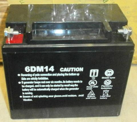 Аккумулятор DDE 12V/14Ah 6DM14 (150x85х135) (+) слева для DPG5501E/DPG6503E унив. (31130-G05001-000)