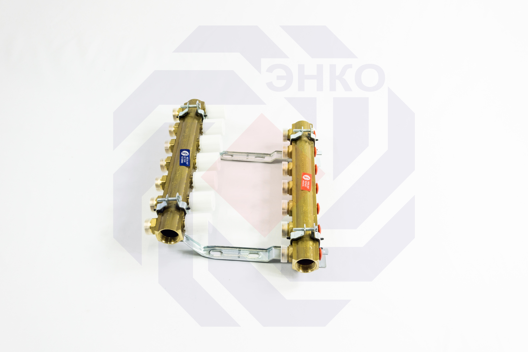 Комплект коллекторов без расходомеров GIACOMINI R553E 7 контуров