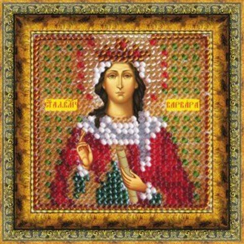 Тема: Религия, иконы, святые¶Техника: Вышивание бисером¶Размер: 6,5х6,5см (в рамке 9х9 см)¶Основа: Т