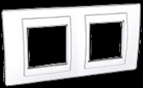 Рамка на 2 поста. Цвет Белый. Schneider electric Unica Хамелеон. MGU6.004.18