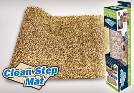 Товары для дома Супервпитывающий придверный коврик Clean Step Mat (Ни следа) pridvernii_kovrik.jpg