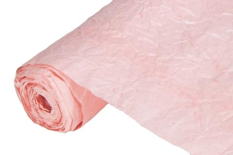 Бумага жатая эколюкс 70см х 5м розовая кварц/серебро 03S
