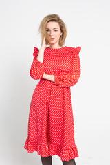 Платье красное в белый горох Nadya