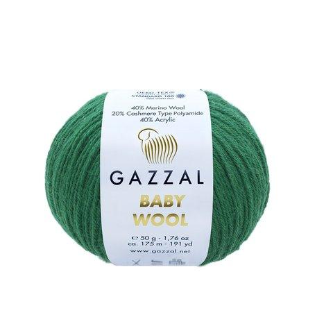 Пряжа Gazzal Baby Wool 814 изумруд