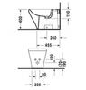 Биде напольное Duravit DuraStyle 2283100000 схема