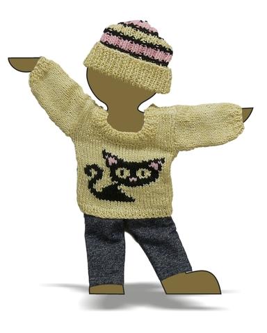 Вязаный комплект - Демонстрационный образец. Одежда для кукол, пупсов и мягких игрушек.