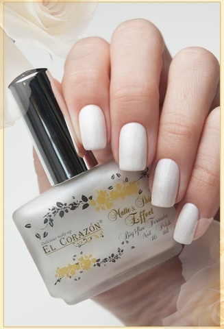 El Corazon Лак Matte Shine Effect 172 жемчужно-белый