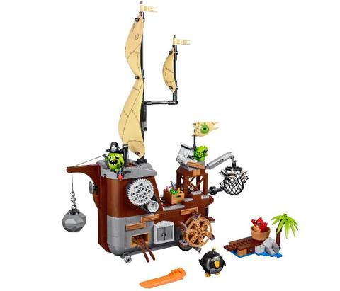 LEGO Angry Birds: Пиратский корабль свинок 75825 — Piggy Pirate Ship — Лего Ангри бёрдз Злые птички