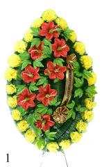 Венок украшенный цветами гвоздик и василька