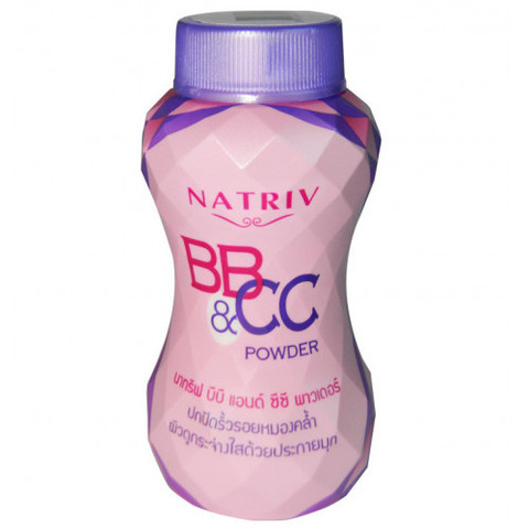 Рассыпчатая BB&CC пудра для любого типа кожи Natriv Powder, 40 гр