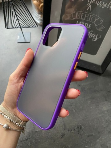 Чехол iPhone 12 /5,4''/ Gingle series /purple orange/