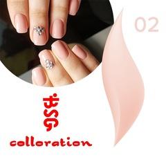 BSG Colloration, №02 Нежный розовый с мелким шимером