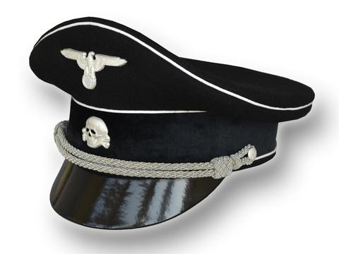 Фуражка офицера Альгемайне СС, чёрная (копия)