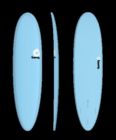 Серфборд TORQ TET Fun 7'6'' - Pinline Blue / Blue