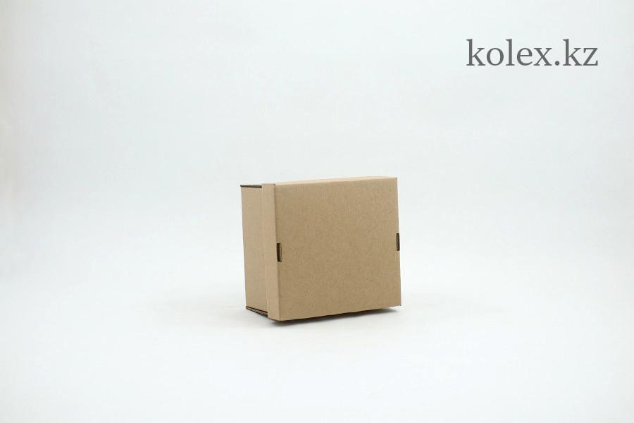 Коробка 150*150*100 бурая + бурое дно
