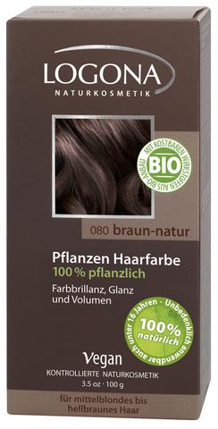 LOGONA растительная краска для волос 080 «НАТУРАЛЬНО-КОРИЧНЕВЫЙ»
