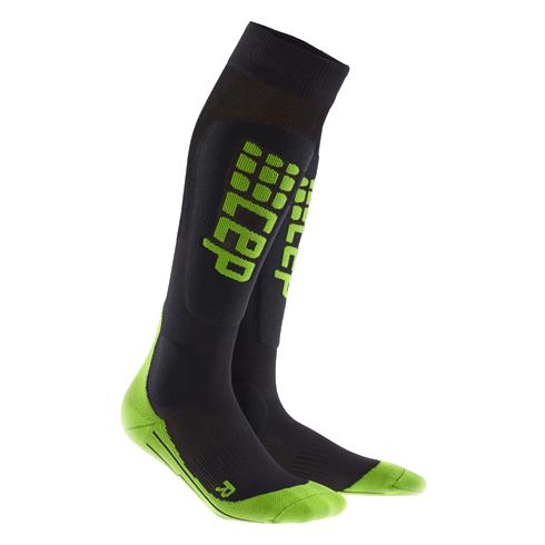 Для занятий спортом Компрессионные гольфы CEP для горнолыжного спорта 23_ski_race_black_green.jpg