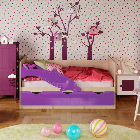 Кровать Дельфин-1 фиолетовый