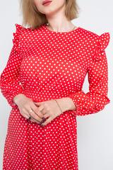 Платье красное в белый горох купить