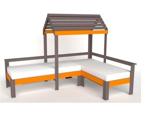 Кровать-домик АВАРА-3 левая 1700-700 /2552*1800*1832/