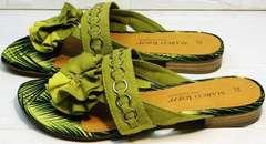 Стильные сандали шлепанцы для женщин Marco Tozzi 2-27104-20 Green.