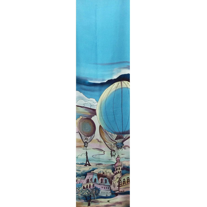 Шелковый шарф батик Дневной Париж