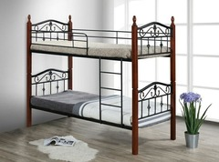 Кровать двухъярусная Мабел 190x90 (Mabel MK-5226-RO) Темная вишня