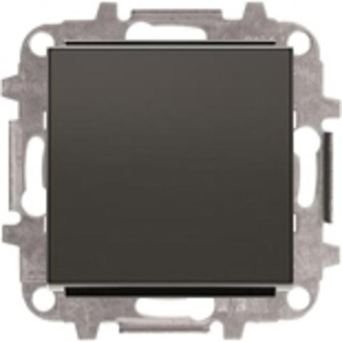 Выключатель одноклавишный. Цвет Чёрный бархат. ABB Sky. 8101+2CLA850100A1501