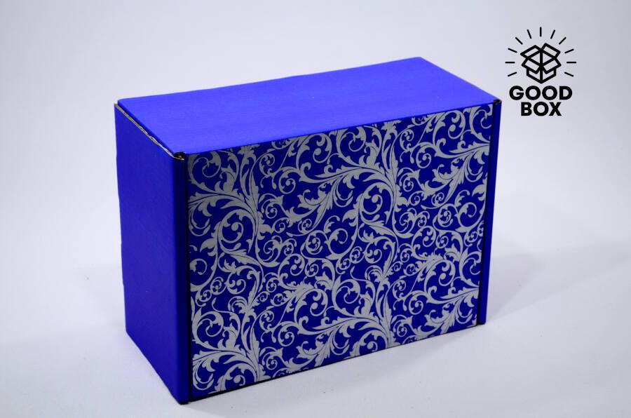 Коробка шкатулка синяя купить с доставкой по Алматы