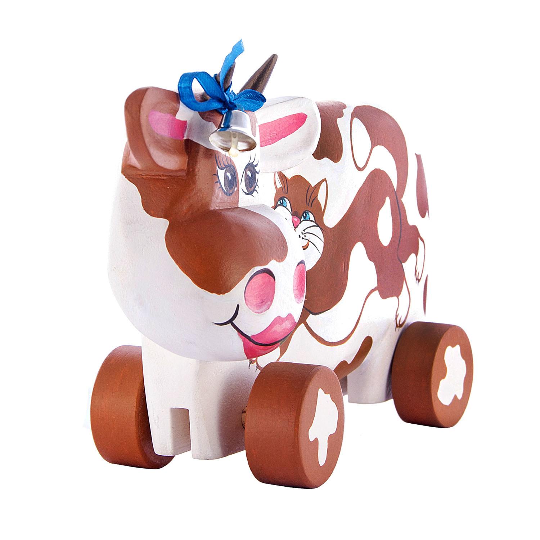 Корова на колёсиках