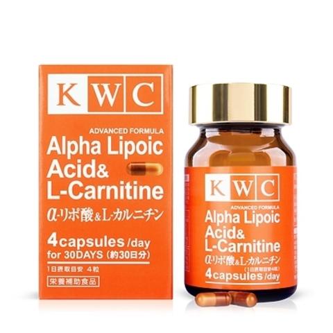 Альфа-липоевая кислота и L-карнитин, KWC, 120 капсул