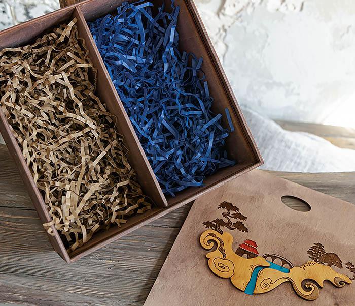 BOX233-3 Большая коробка «Синано» с художественной росписью (25*25*12 см) фото 12