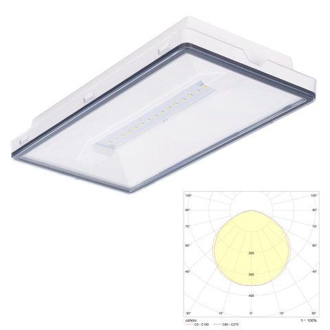 Vella LED eco SO IP65 - автономный эвакуационный светильник с аккумуляторной батареей Vella LED eco SO IP65 Intelight для антипанического освещения открытых пространств и путей эвакуации.