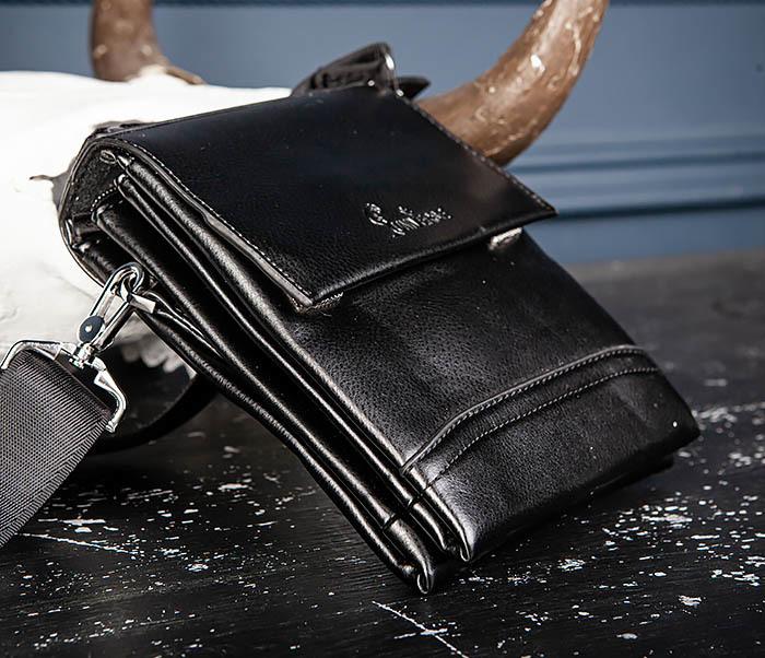 BAG560-1-5 Мужская сумка из кожи с ручкой и ремнем фото 04