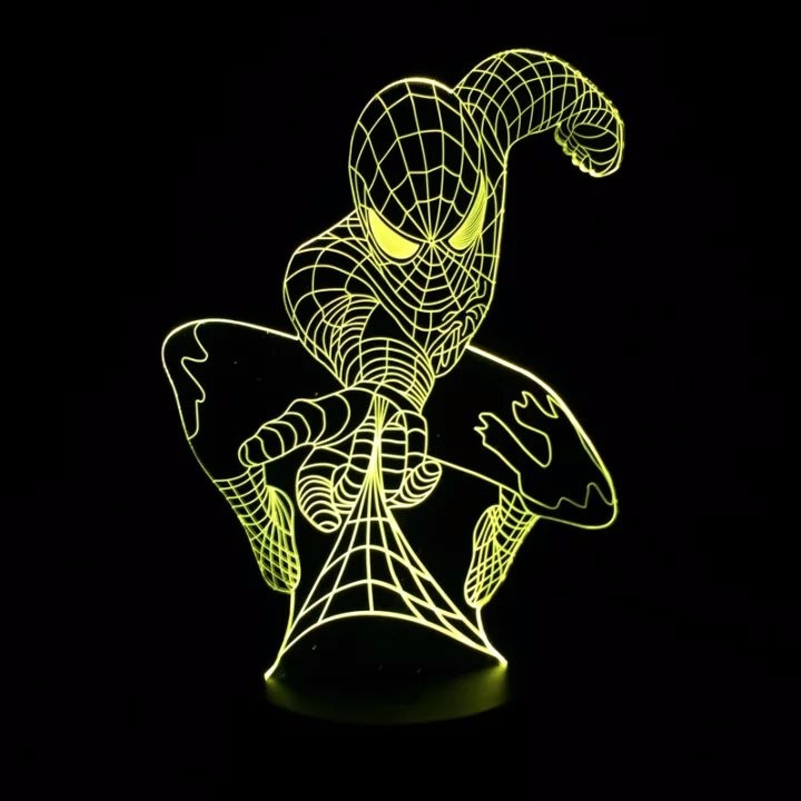 3D светильник Человек паук — 3D light Spider Man
