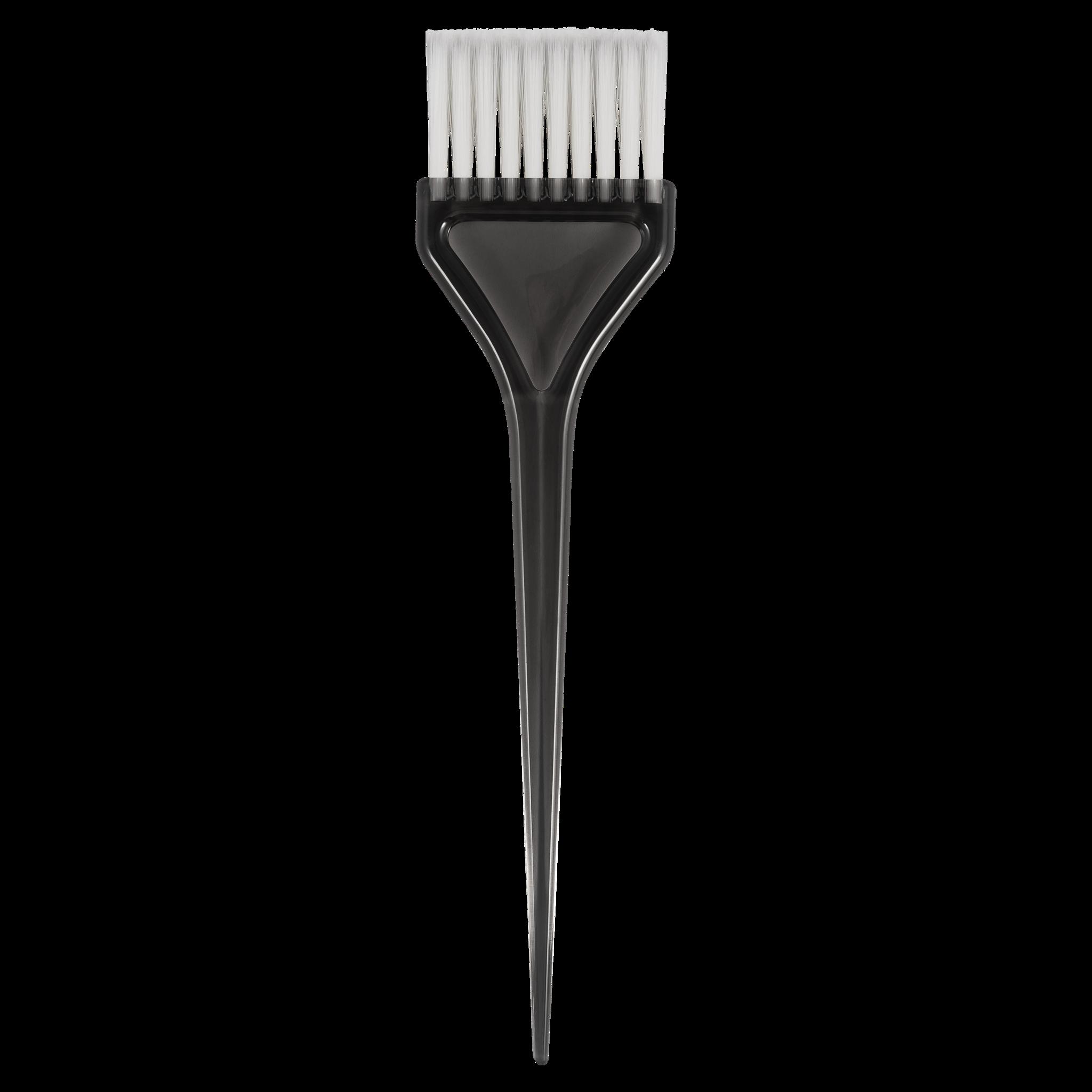 Кисть для окрашивания волос Stavver с белой щетиной , серая ST103