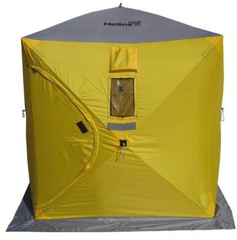 Зимняя палатка Куб Helios 1,5х1,5 (серый/оранжевый)
