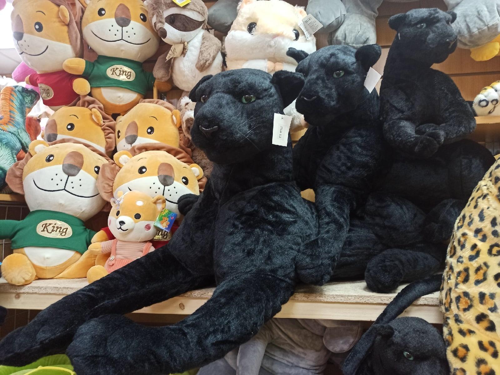 Огромная Черная пантера 120 см
