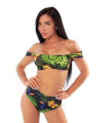 Плавки Nebbia High-waist retro bikini - bottom 555 Tr.green